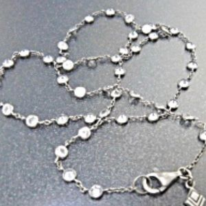 SULPADA .925 STERLING SILVER & CRYSTAL NECKLACE